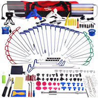 Super PDR Paintless Dent Repair Dent removal Tools PDR Push Rod Hooks Crowbar Aluminum LED Light Reflector Board slide hammer