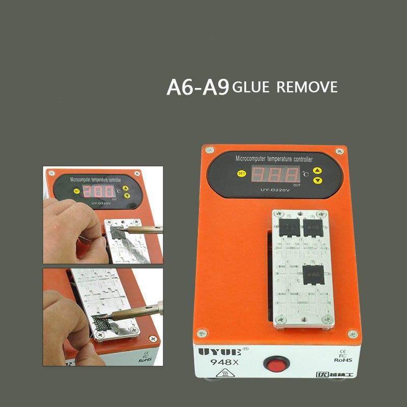 La colle portative de CPU de séparateur d'écran de téléphone portable de prise de l'ue enlèvent la machine pour l'iphone samsung A6-A9