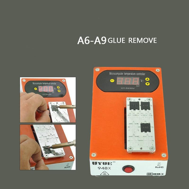 Protable EU plug Mobile phone screen Heater Separator CPU glue remove machine  for iphone sumsung A6-A9 946d screen separator with accessories uv glue uv lamp moulds etc glue remove machine