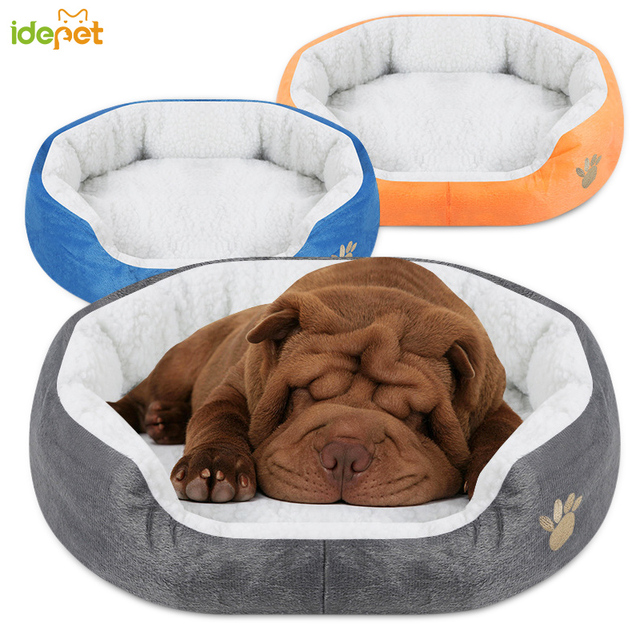 soft sofa dog bed lawson cute paw pet beds lamb cashmere padded bottom fleece for small