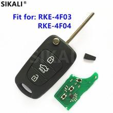 سيارة جديدة مفتاح بعيد عن RKE 4F03 أو RKE 4F04 السيارات بدون مفتاح التحكم 433MHz ID46 رقاقة CE الارسال ASSY 433 EU TP لكيا