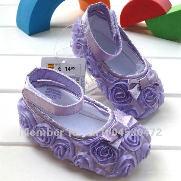 Wholesale Hot sale Rose Flowers toddler soft baby girl shoes Sizes Free Shipping!