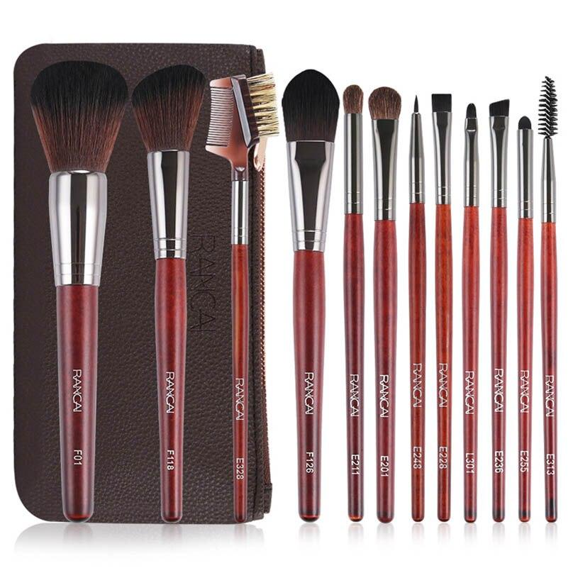 12pcs  Professional Makeup Brushes Set High Quality Make Up Brushes Powder Foundation Eyeshadow Synthetic Makeup Tool Kit