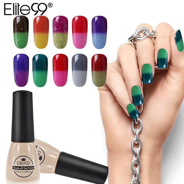 Elite99 Gel Polish Temperatur Veränderbar Farbe Nagel Lack Semi Permanent Nail art Maniküre Lack Chameleon UV Lack Gel