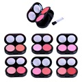 Double Layer Miniature Shimmer Makeup Blushes Cheeks With Mirror and Blusher maquiagem Beauty maquillaje CL5