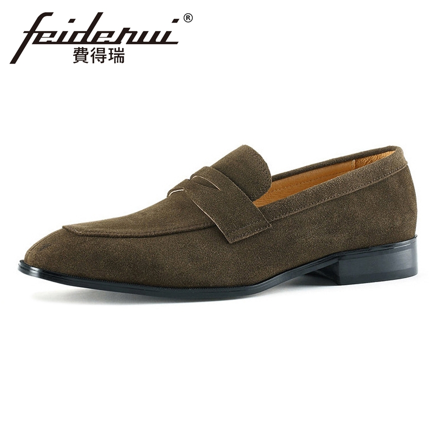 Plus Size Height Increasing Men Comfortable Loafers Round Toe Slip on Handmade Man Cow Suede Leather Casual Moccasin Shoes MLT12 top brand high quality genuine leather casual men shoes cow suede comfortable loafers soft breathable shoes men flats warm