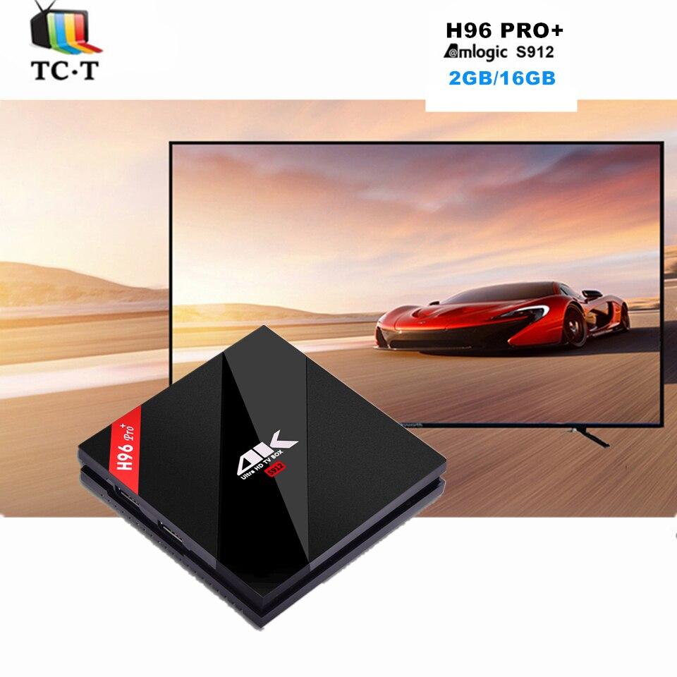ФОТО 10pcs [Original] H96 Pro+ 2GB16GB TV Box S912 64Bits Octa Core Media Android 6.0 2.4G/5.8G WiFi Bluetooth 4.1 APK DLNA Miracast