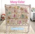 Promotion! Kitty Mickey 62*52cm Baby Bed Hanging Storage Bag Cotton Crib Organizer Toy Diaper Pocket for Crib Bedding Set