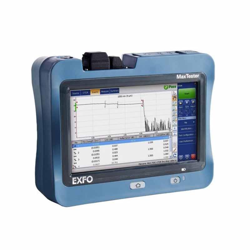 EXFO OTDR MaxTester-730C-SM-1310/1550/1625dB-39/38/39dB Touch Screen MAX730C-IOLM Fiber Optical Time Domain Reflectometer