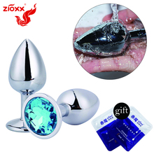 ZIOXX plug anal diamentowe zabawki erotyczne dla kobiet mężczyzn Gay stal nierdzewna metalowy korek analny korek analny koralik produkt dla dorosłych
