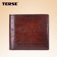 TERSE_Hot selling purse antique trendy style 5 color new arrival men wallet handmade leather cowhide Italian design men purse388