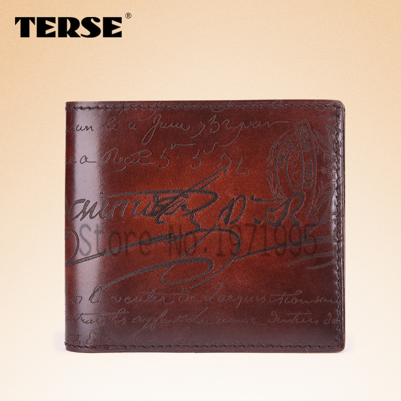 TERSE_Hot selling purse antique trendy style 5 color new arrival men wallet handmade leather cowhide Italian design men purse