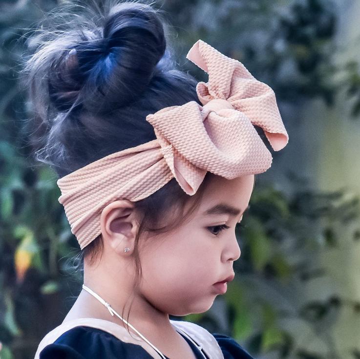 Baby Headband Bandeau Bebe Fille Baby Girl Headbands Newborn Hairband Toddler Fabric BowKnot Headwraps Turban Headwear Accessory