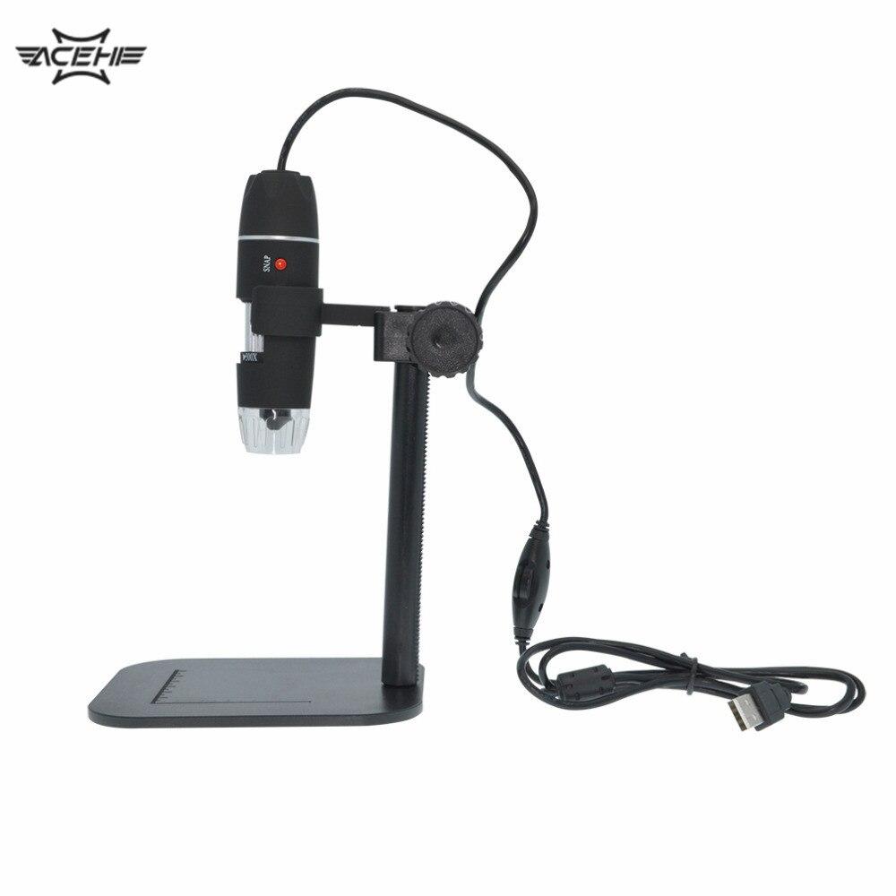 50X à 500X USB LED Électronique Numérique Microscope Loupe Caméra Noir Pratique Caméra Microscope Endoscope Loupe