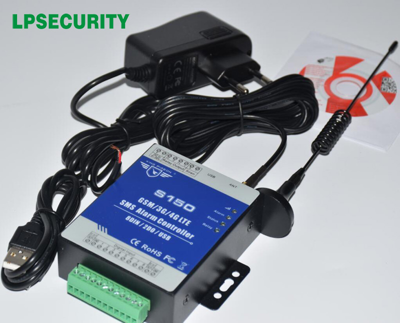 LPSECURITY GSM 3G 4G RTU SMS Alarm Controller Industrial IOT RTU Monitoring System In-built Watchdog S150