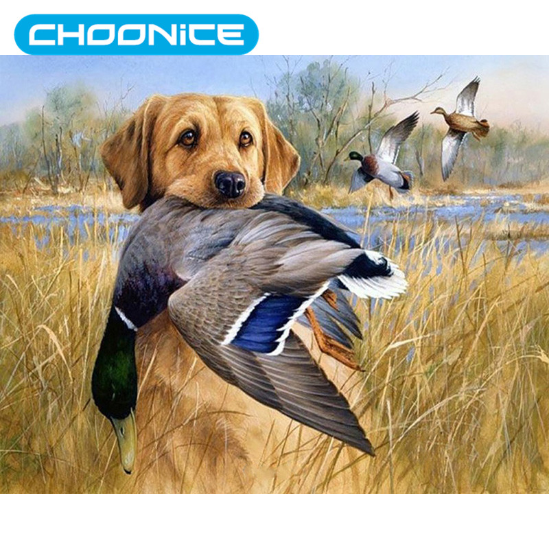 Diamond Painting Rhinestones Pokemon The Hound Catches The Goose DIY 3D Diamond Embroidery Field hunting Mosaic Drawings