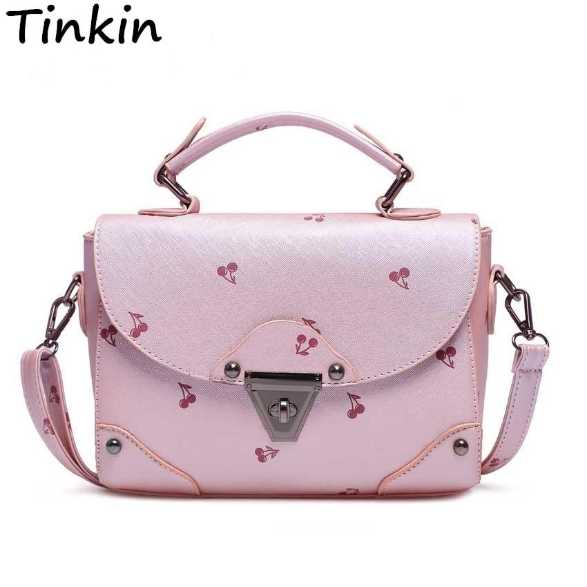 Tinkin Medium Fresh Women Bag Candy Color Shoulder Bag Fashion Cherry Totes Ladies Daily Bag natura siberica шампунь детский без слез natura siberica 250 мл