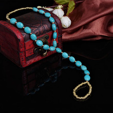 Hot  Arrival Women Ladies Ankle Bracelet Anklet Turquoise Toe  Beads Stretchy Barefoot Sandal Beach 5SGQ 6KDU 7FIT BCWC