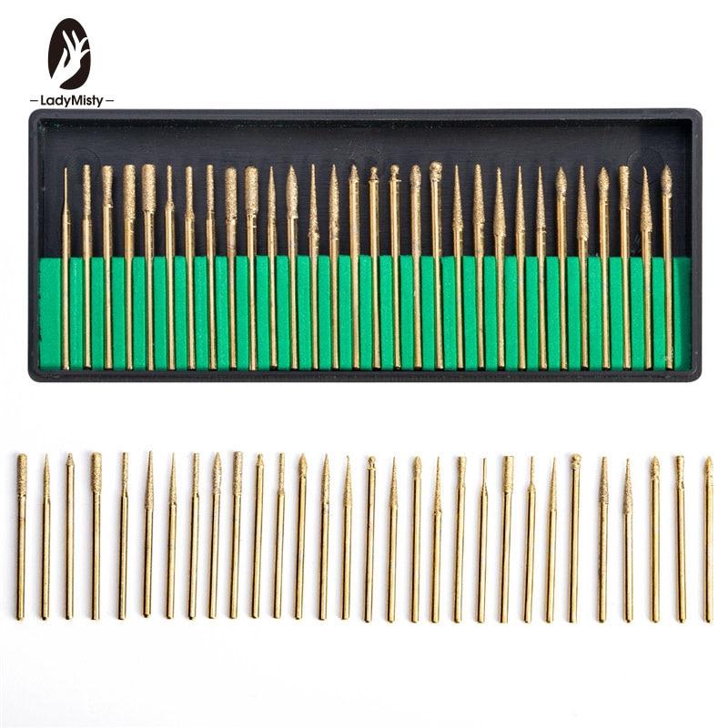 30pcs/Set Electric Nail Drill File Machine Bits 3/32