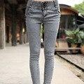 2015 новая мода Плюс размер эластичные Брюки женские брюки узкие джинсы Классические Старинные Разорвал Джинсы Sexy Jeans