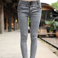 2015 new fashion Plus size elastic Trousers female pants skinny jeans Classical Vintage Ripped Denim Sexy Jeans