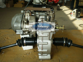 cf moto 250cc water cooled cvt engine with reverse gearbox and two