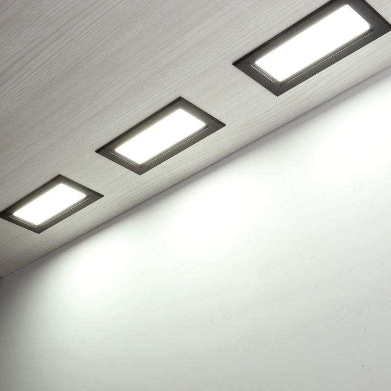 LED Panel Recessed Downlight 12W 18W 24w Square LED Downlight Super Bright Energy Saving AC110V 220V Home Indoor Lighting