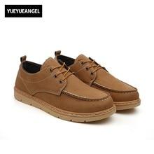 Осень Новая мода Мужская обувь Кружево на шнуровке нескользящие для Для мужчин Оксфорд Обувь искусственная кожа круглый носок Британский Стиль Желтый Бесплатная доставка