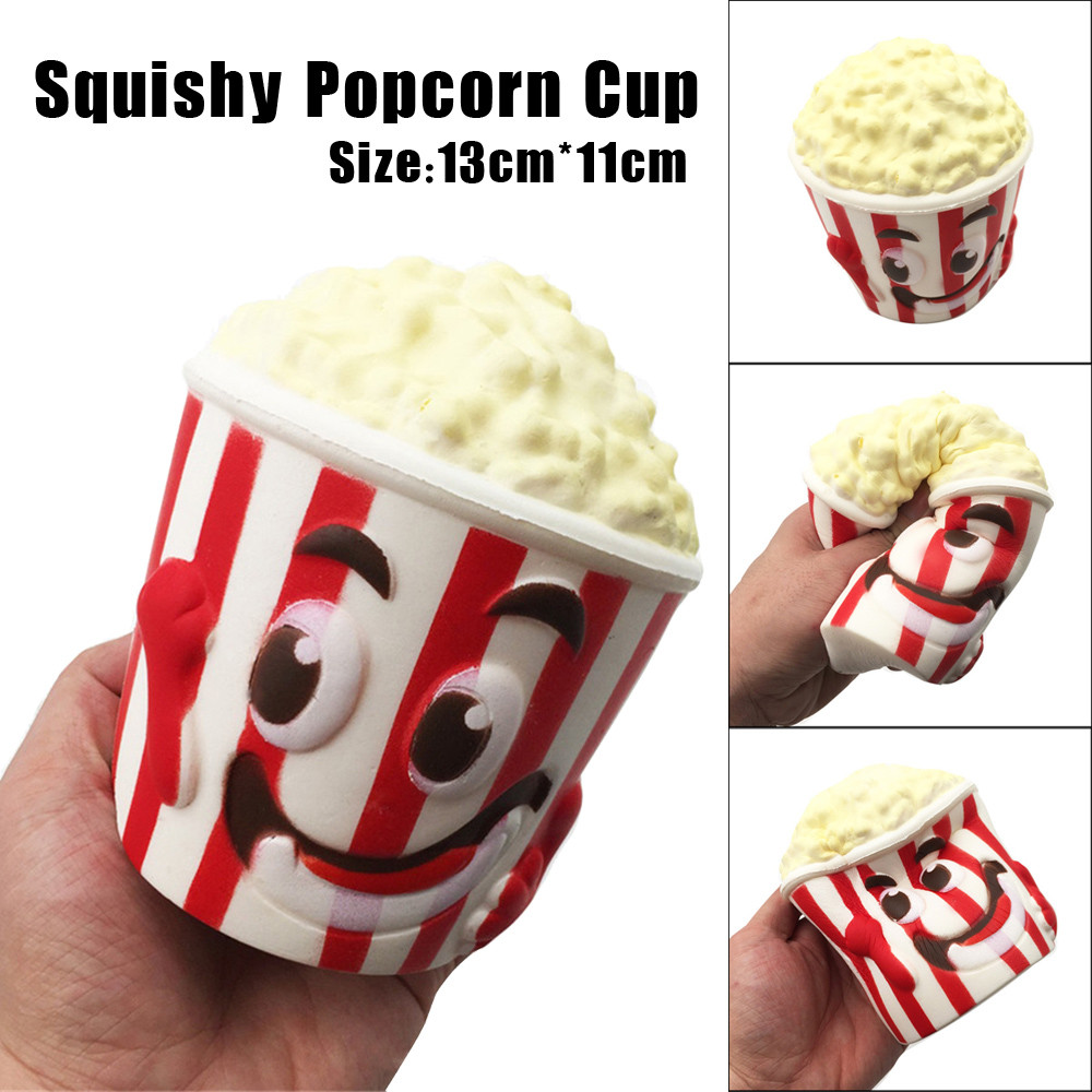MUQGEW Funny Anti Stress toys Big Popcorn Cup Squishy Slow Rising Unbreakable Lovely gift Jouet Enfant Collection