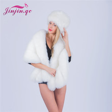 Jinjin.QC Women Winter Fur Cap Real Fox/Raccoon For Hat With fur Tail Fashion Russian Ear Protector High Quality Female Hat fashion 2018 russian winter mother