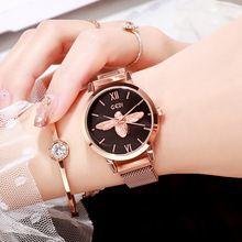 2018 new fashion luxury womens watch net waterproof women