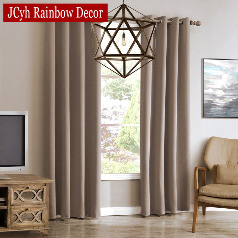 jrd modern blackout curtains for living room window. Black Bedroom Furniture Sets. Home Design Ideas