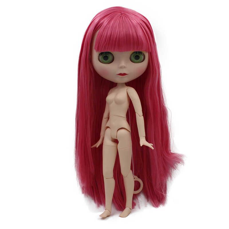 Blyth Boneca BJD, Boneca Blyth Neo Fosco Rosto Bonecas Pode Mudado de Maquiagem e Vestido Nude Personalizado DIY, 1/6 Bola Bonecos Articulados SO40