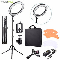 MustHD 18 Inches 55W 240 Piece LED SMD Ring Light 5500K Dimmable Ring Video Light With