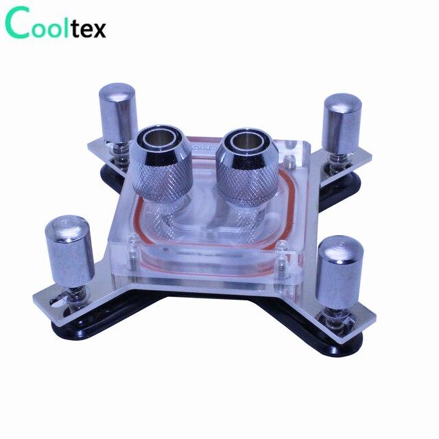 Bloc de refroidissement à eau pour ordinateur intel LGA 775/115x/1366/2011 X99 X79, bloc de refroidissement à eau dunité centrale