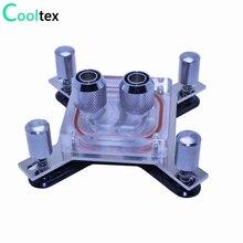 DIY CPU Water cooling block Waterblock radiator watercooled block cooler for computer intel LGA 775/115x/1366/2011 X99 X79