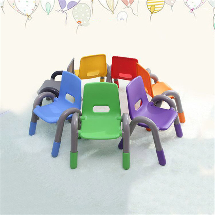 1Set/6pcs Colorful Modern Plastic PE Children Chair For Kids Study/Eating/Learning Kindergarten Safety Thicken Small Child Chair