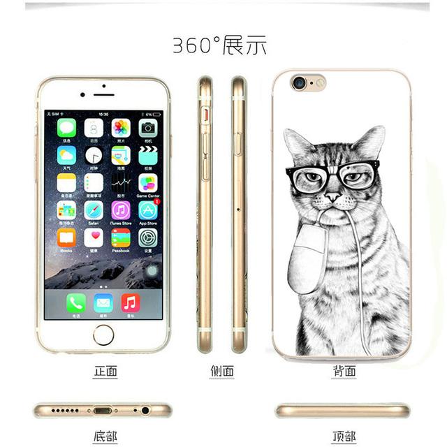 Cartoon Programmer Cat  Phone Cases iPhone 6 6s