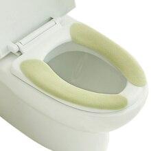 1 пара чехлы для сидений унитаза Подушка наклейки пушистые теплые мягкие Моющиеся Многоразовые TB распродажа
