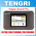 Original Unlocked touchscreen 150Mbps Netgear Aircard 771s AC771S 4G Mobile Hotspot Support LTE FDD 1900/2500MHz And TDD 2600MHz