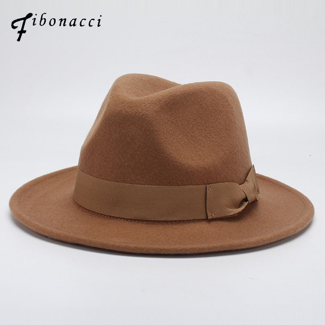 Tan Fedora Felt Hat With Ribbon - OS / BROWN I Saw It First qPZory6y