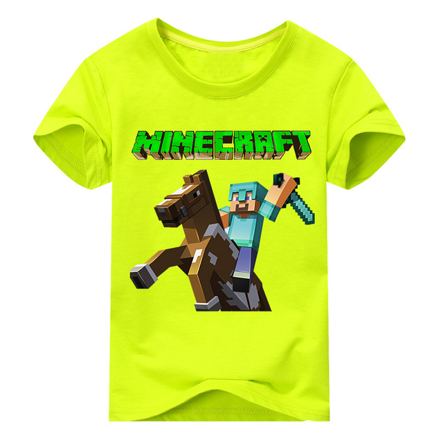Cenicienta Boys Football T-Shirts Cartoon Print Minecraft Children Clothing Doll Short Cotton Costume 2T 3T 4T 5T 6T 8T 10T 12T