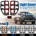 1 paio ABS Luce Posteriore Coperture Paralume Senza Luce Per Ford Ranger T6 2012-2018 Coda Posteriore Della Lampada Della Luce accessori di copertura