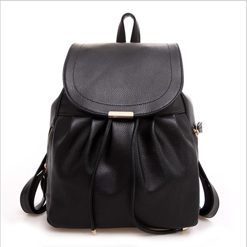 2016 고등학교 레이디 배낭 지갑 백 가방 가죽 백팩 블랙 스쿨 백 블랙 모랄레스 클래식 가죽 백팩