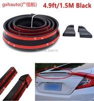 universal soft Rubber Soft Black Car Rear Spoiler35mm Width 1.5m Length Exterior Rear Spoiler Kit for suzuki SX4 S CROSS