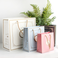 20PCS New Several Patterns Kraft Paper Gift Bag Festival PaperBag Fashionable Jewellery Bags For Wedding Birthday Party