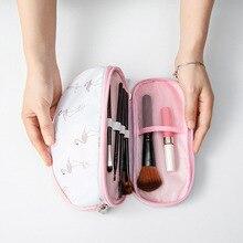 Hot Sale Portable Makeup Bag Brush Organizer Printed Zipper