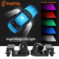 Partol 2Pcs Angel Wings Car Welcome Light Shadow Light Projector Car LED Door Warning Light Lamp for Audi BMW Toyota Volkswagen - фото