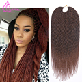 "Ombre Braiding Hair 18"" 75g/pack Crochet Twist Hair 30 Strands Faux Locs Crochet Braids Hair Extensions Crotchet Braiding Hair"