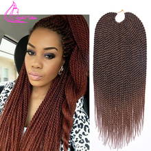Ombre Braiding Hair 18″ 75g/pack Crochet Twist Hair 30 Strands Faux Locs Crochet Braids Hair Extensions Crotchet Braiding Hair